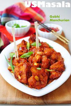 Gobi Manchurian - Spicy Indian Cauliflower in spicy sauce