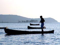 India, Goa Chapora River Boats.