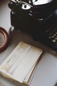 telegram // vintage // 1920s // wedding // washington