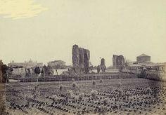 : Basilica di Santo Stefano Rotondo vista dal giardino dei Passionisti di San Giovanni e Paolo Anno: 1870 ca