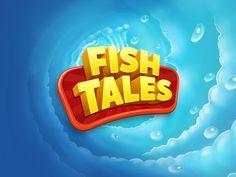 Fish tales by Oleg V. 3d Logo, Typo Logo Design, Game Logo Design, Text Design, Logo Branding, Design Art, Film Movie, Cinema 4d, Video Game Logos