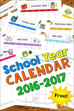 Have you grabbed YOUR free 2016-2017 School Year Calendar from Laura Candler? The portrait-style pages are perfect for storing in 3-ring binders!