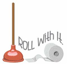 Hopscotch Embroidery Design: Roll With It 3.74 inches H x 3.78 inches W