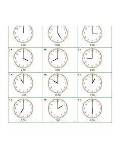 Nauka zegara – napisz godzinę – część 5