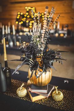 halloween wedding halloween diy halloween decorations photos by rob kristen photography centerpieces halloween centerpieces wedding centerpieces - Halloween Centerpieces Wedding