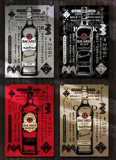Limited Edition Packaging Design by xie xin, via Behance Limited Edition Packaging, Bacardi Rum, Beer Poster, Alcohol, Direct Marketing, Bottle Packaging, Ron, Innovation Design, Packaging Design
