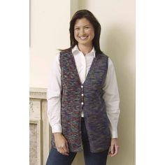Knit Slimline Vest - Lion Brand Yarn