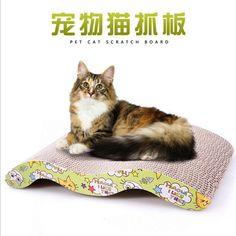 猫子猫段ボールスクラッチボードパッド難問ベッドマット爪ケアインタラクティブ玩具用ペット猫トレーニング猫のおもちゃ