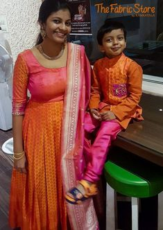 Mother And Son Matching Indian Outfits is part of Mom and son outfits - Mother Son Matching Indian Outfits, online shopping , mom dad and son matching outfits, family matching ethnic wear, party wear Mom And Son Outfits, Mom Daughter Matching Dresses, Mom And Baby Dresses, Baby Boy Dress, Family Outfits, Kids Outfits, Anarkali, Churidar, Lehenga