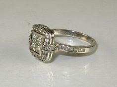 Vintage 125 carat Diamond tcw ladies ring by uniqueringandmore, $783.00