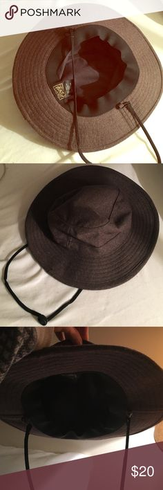 OBEY HAT BRAND NEW! Brown Obey wool and polyester hat with draw string! Super cute! Obey Accessories Hats