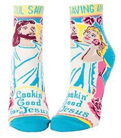 Blue Q Lookin' Good For Jesus Women's Ankle Socks