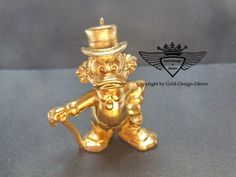 Dagobert Duck 24 Karat vergoldet.Gold, Gold Plating, 24 K, Vergoldet, Elektro Plating