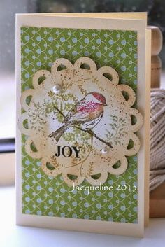Jacqueline's Craft Nest: Collage cards and good news