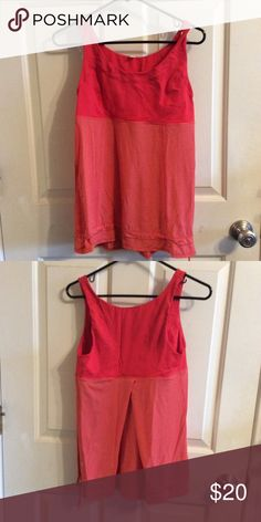 Lululemon Orange Running Tank Excellent condition, label is trimmed, no built in bra lululemon athletica Tops Tank Tops