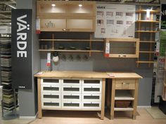 Ikea varde - I own two and crave one more. The best ikea ever made! Kitchen Reno, New Kitchen, Kitchen Ideas, Ikea Varde, Free Standing Kitchen Cabinets, Freestanding Kitchen, Best Ikea, Wooden Kitchen, Ikea Hack