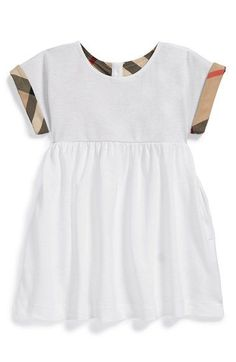 Burberry 'Jen' Piqué Dress (Baby Girls) available at #Nordstrom