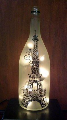 Cool Wine Bottles Craft Ideas (12) #WineIdeas #BottleLamp