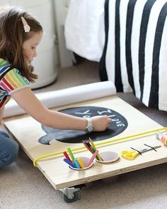 Our founding member @heatheryounguk is always treating us to brilliant DIYs. This time she's made a DIY kids art table.How cool is that?! Find out how to make it on Heather's blog. It's a perfect Sunday project. #StyleAtMine