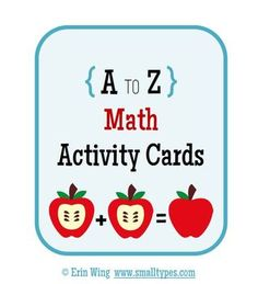 A to Z Math Activity Cards  $1.50