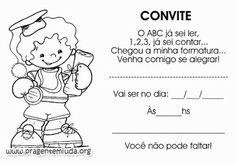 Convites para formatura Educação Infantil