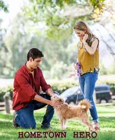Hometown Hero is a 2016 made for television PixL Network film starring Brooke Nevin, Jake Sandvig, Antonio Sabato Jr., Megyn Price, McKinley Freeman and Stephanie Charles. Plot:  A cynical divorce mediator (Brooke Nevin) is forced to care for a client's dog. The mischievous hound warms her heart, and after spending time with the local vet (Jake Sandvig), she begins to find that maybe the true love she dared not believe in is actually closer than she thinks.