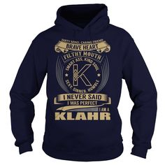 (Tshirt Awesome Choose) KLAHR Last Name Surname Tshirt Coupon 10% Hoodies Tees Shirts