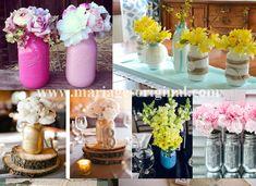 pot maon jar repeints, pots de conserve repeints Pot Mason, Mason Jars, Pots, Diy Projects, Table Decorations, Home Decor, Centerpiece Wedding, Quirky Wedding, Birthdays