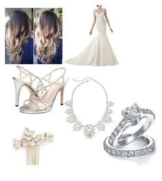 """""""fifty first outfit"""" by lilyandjack ❤ liked on Polyvore featuring Bling Jewelry, Wedding Belles New York and Caparros"""