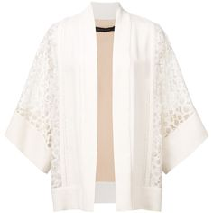 Elie Saab lace kimono jacket (36.100.520 IDR) ❤ liked on Polyvore featuring outerwear, jackets, white, white lace kimono, white kimono, lace kimono jacket, elie saab and white lace jacket