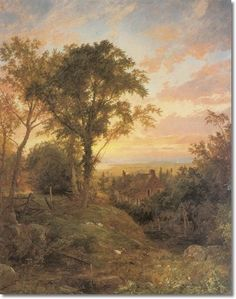 """The Old Home, Warwick N.Y."" by Jasper Francis Cropsey, 1864"