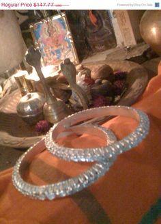 30offSALE gorgeios Sterling Silver Indian Bangles <3 shop for good karma