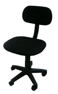 Bon Home Source Industries 12430 Black Office Chair With Casters And No Arms,  Black