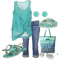 great top - love the color and style. The bag is awesome too