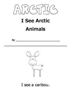 $ I See Arctic Animals- Printable Book. Fun winter/arctic theme activity to practice sight words and animal name vocabulary.