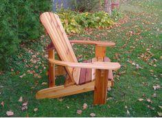"Oversize Adirondack Chair - Natural Finish - (23"" )"