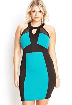 Colorblocked Scuba Knit Dress | FOREVER 21 - 2000061861