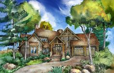 Plan 26602GG: Refined Rustic Showstopper