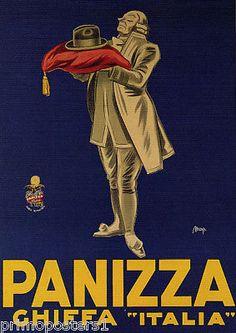 ITALY PANIZZA CHIFFA ITALIAN HATS FASHION VINTAGE POSTER REPRO | eBay