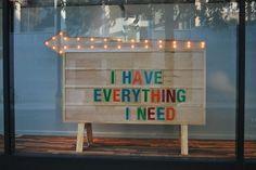 I have everything I need.