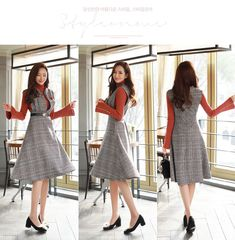 New Style Korean Fashion Shopping Mall Ideas Hijab Fashion, Korean Fashion, Fashion Dresses, Fashion Fashion, Office Dresses, Casual Dresses, Formal Dresses, Cheap Boutique Clothing, Curvy Fashion