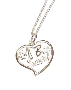 Big Sister Silver Heart Necklace | Key Your Spirit, LLC http://www.keyyourspirit.com/collections/sorority-apparel/products/big-sister-silver-heart-necklace?variant=4068646595