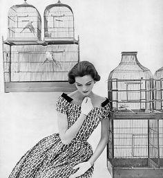 Anne St. Marie, photo by Tom Palumbo, Harper's Bazaar, January 1955 | flickr skorver1