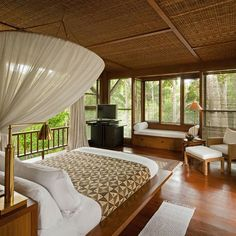 #decorinspiration for your #guest #bedroom with a #bali style. #nature