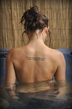 """Im the hero of this story, I dont need to be saved"" would totally get this tattoo in the same place."