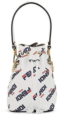 4e9dbbe9e808 Fendi Women s Mon Tresor Mini Leather Bucket Bag - White