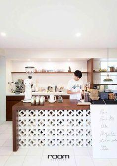 20 Trendy Home Decoracin Ideas Kitchen Desks Kitchen Desks, Loft Kitchen, Apartment Kitchen, Bar Kitchen, Apartment Design, Cafe Interior Design, Cafe Design, Home Bar Rooms, Trendy Home