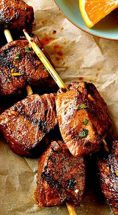 Citrus-Marinated Beef Kabobs