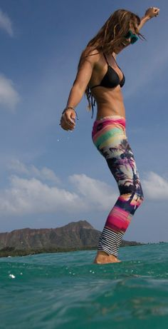 Summer time brights! Find similar tights at www.hardtofind.com.au - search for Rio 75 Leggings