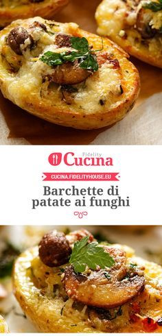 Barchette di #patate ai #funghi